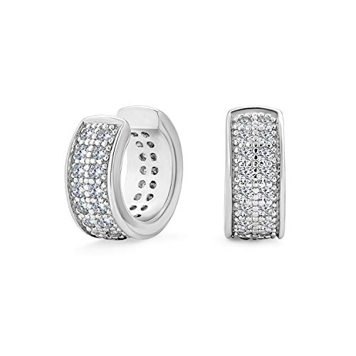 Minimalist Cubic Zirconia Pave CZ Band Cartilage Ear Cuffs Clip Wrap Helix Earrings For Women .925 Sterling Silver