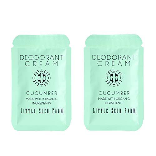 Little Seed Farm - Deodorant Cream Samples, 2 Pack - Cucumber