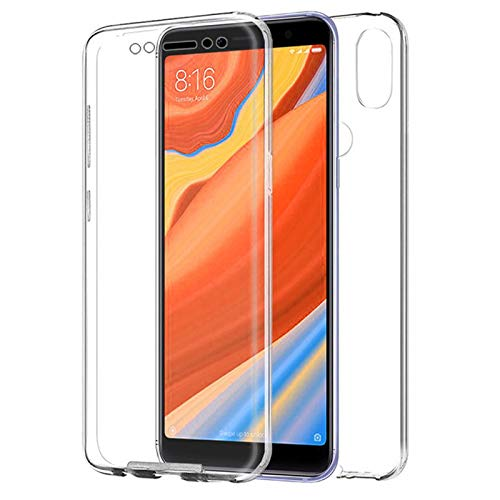 TBOC Funda para Xiaomi Mi 8 - Mi8 (6.21 Pulgadas) - Carcasa [Transparente] Completa [Silicona TPU] Doble Cara [360 Grados] Protección Integral Total Delantera Trasera Lateral Móvil Resistente Golpes