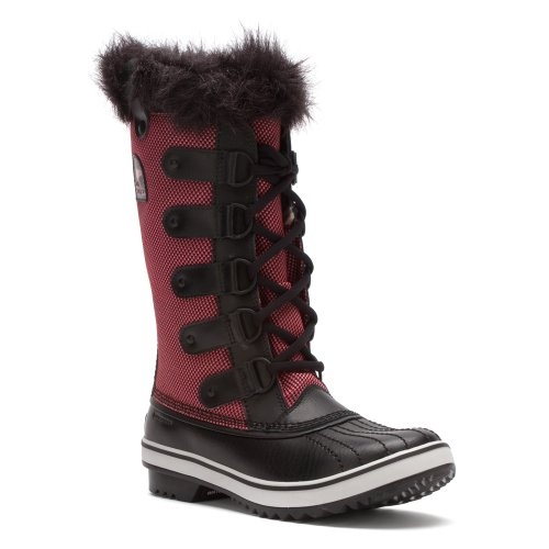 Hot Sale Sorel Womens Tofino Nylon Chili/Black Synthetic Boots 7.5