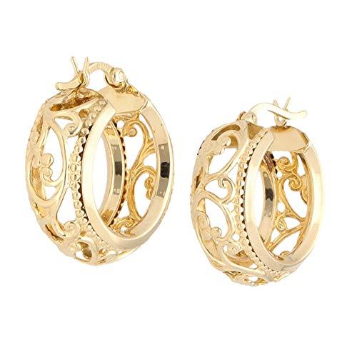Jollys Jewellers - Pendientes de aro celta de oro amarillo de 9 quilates (20 mm de diámetro)