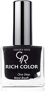 Rich Color Nail Lacquer By Golden Rose, Color Black No35, Pretty Purple 28