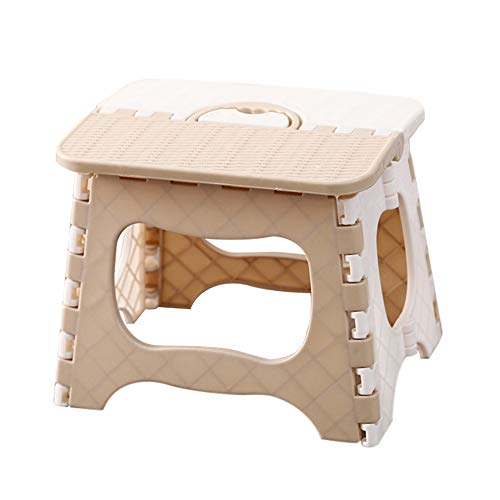 Decdeal - Taburete plegable de plástico - Taburete portátil multiusos para el almacenamiento al aire libre - Taburete de viaje para pequeños asientos