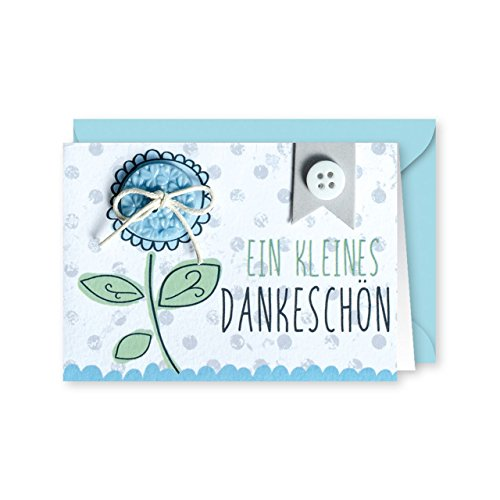 Knopfkarte 62 - Ein kleines Dankeschön - Dankeskarte - Mini-Karte