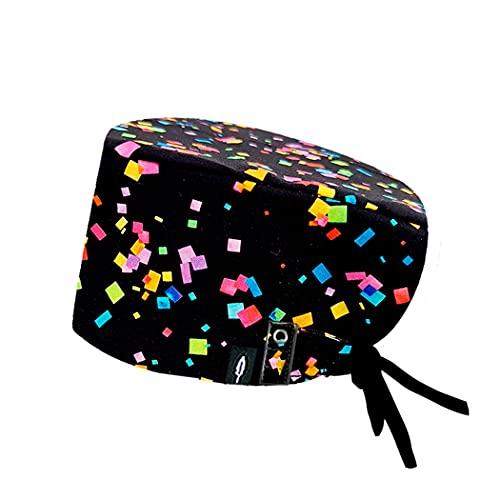 Modelo: LOLA CON SISTEMA CLICK - Pelo Largo -Gorro de Quirófano ROBIN HAT con sistema de sujeción con click - Ajustable - 100% algodón (Autoclave)