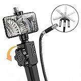 DDENDOCAM Boroscopio Articulado USB 5.0MP HD Cámara de Inspección Endoscópica con Sonda Articulada de 180 Grados para iPhone Teléfono Android