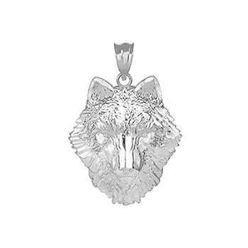 Fine 925 Sterling Silver Tribal Wolf Head Charm Pendant