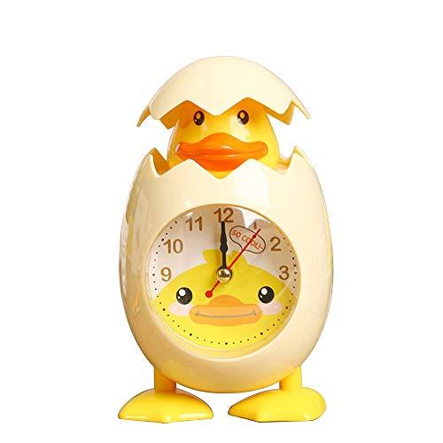 LCSD Ornaments Fashion Cartoon Eggshell Chick Alarm Clock Student Child Bedroom Desk Table Clock Decoration Kids Birthday Gift