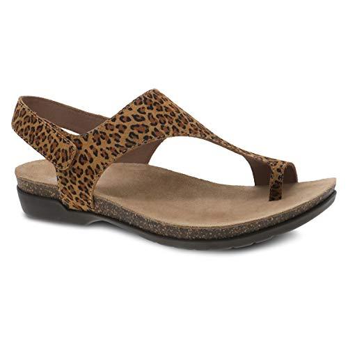 Dansko Women's Reece Leopard Suede Sandal 8.5-9 M US