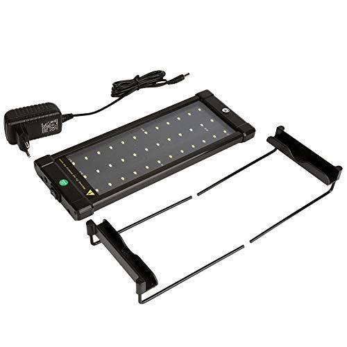 Joycelzen Iluminación LED para acuario, Slim Regulable, lámpara de pinza, luz LED para plantas acuáticas y acuarios de agua dulce (30 cm)