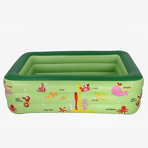 XZQ Kinder aufblasbare Schwimmbecken, Schwimm Row 210 * 145 * 65CM Geeignet for Kinder über 3 Jahre alt Mit (Color : Green)