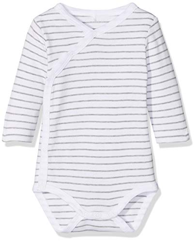 NAME IT uniseks-baby rompertje NBNBODY WRAP LS GREY MEL NOOS