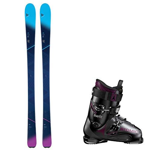 Fischer My Mountain 84 Womens Ski Package - 167cm/26.5