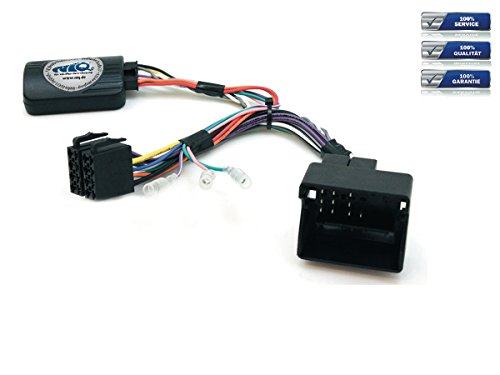 NIQ CAN-BUS Lenkradfernbedienungsadapter geeignet für PIONEER Autoradios, kompatibel mit Peugeot 207 / 208 / 307 / 407 / 807 / 308 / 3008 / 5008 / Partner / Expert / RCZ