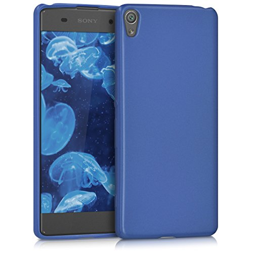 kwmobile Hülle kompatibel mit Sony Xperia XA - Hülle Handy Metallic Blau