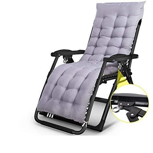 WJXBoos Sillas de jardín reclinables para Personas Pesadas Playa al Aire Libre Césped Camping Silla portátil Plegable Home Lounge Tumbona Soporte 200 kg (Color: Negro)