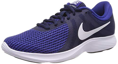 Nike Revolution 4 EU, Zapatillas de Running Hombre, Midnight Navy/White-Deep Royal Blue-Black, 44