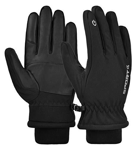 UMIPUBO Touchscreen Sporthandschuhe, Wasser- und Winddichte Herren- und Damen Handschuhe, Winter Dicke Warme Handschuhe Outdoor Radsport Camping Handschuhe