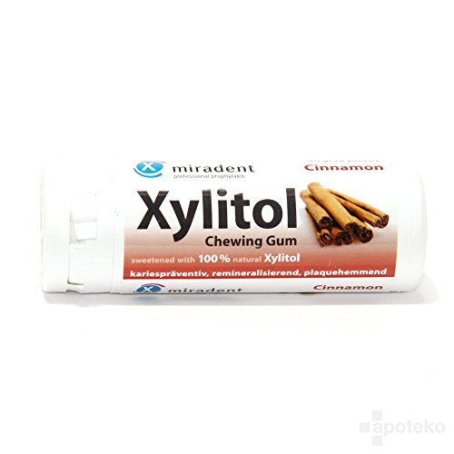 Miradent xylitol chewing gum cannelle 30g - 1