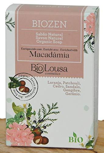 Biozen, Savon très doux et naturel, idéal pour tous types de peaux, SAF BIO surgras 8% à l'huile de Macadamia BIO, 100gr – extra-doux recommandé pour peaux sèches à très sèches Corps & visage.
