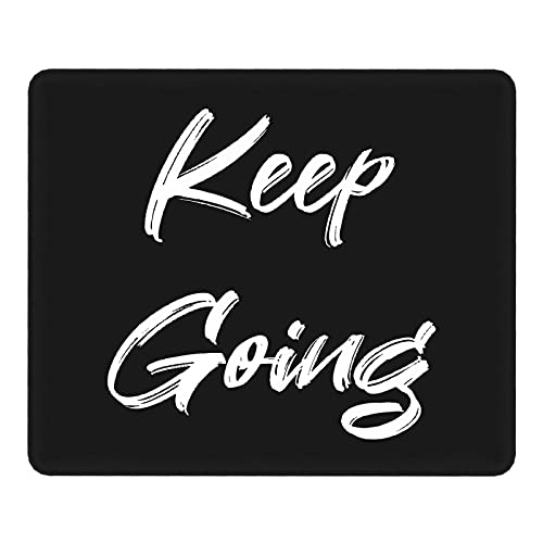 Gaming Mouse Pad Keep Going Inspirational Motivational Quotes Sign Mouse Pad for Work and Life Fashion Non-Slip 16x30in(40x75cm)