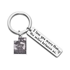 Material: High quality stainless steel and alloy. USA state map pendant keychain,perfect long distance friendship gift! Packed in a beautiful red velvet gift bag, and it's really perfect for gift giving. If, for whatever reason,you don't absolutely l...