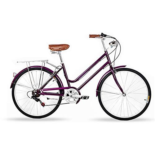 CLOUD 26 Zoll Cityrad Damenfahrrad Cityrad Mit Fahrrad-Licht, Shimano 7 Gang-Schaltung Hollandrad