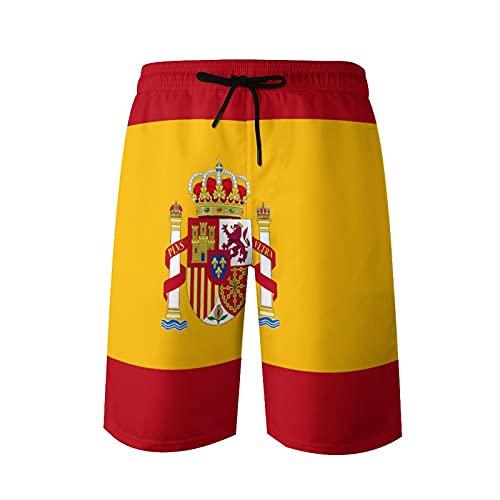 Herren Strand Kurze Badehose Flagge von Spanien, M.