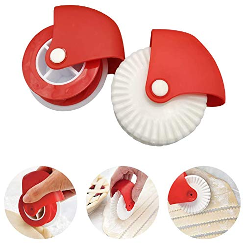 xingchen 2er Pack Pastry Wheel Cutter, Pie Crust Pastry Wheel, langlebiges Pizza Pastry Pie Lattice Decoration...