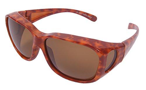 Rapid Eyewear Polarisierte Medium - Groß Schildpatt ÜBERBRILLE FÜR DAMEN Brille Übergehen. Überzieh Sonnenbrille zum Fahren, Sport usw. Sonnenüberbrille mit uv400 Schutz
