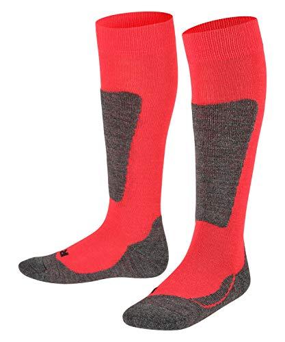 FALKE - Active Ski, Calzettoni per bambini e ragazzi, rosso (Rot (Fire 8150)), Taglia produttore: 35