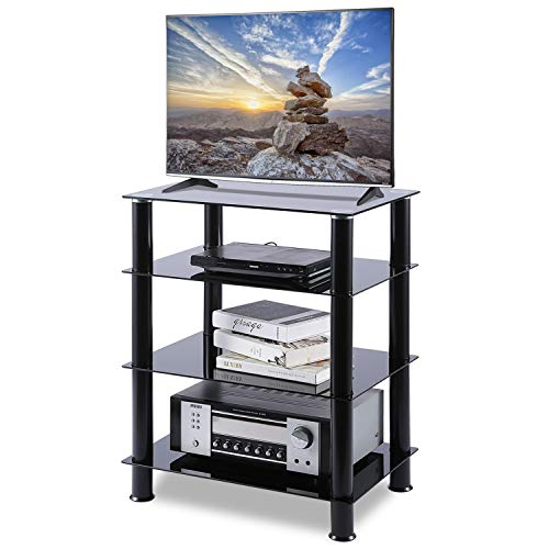 5Rcom 4 Tier Media Stand Glass A...