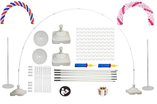 LANGXUN Kit de Arco de Gran tamaño para Bodas, cumpleaños, artículos de Fiesta, Decoraciones de Navidad y año Nuevo - Ideal para decoración de jardín Interior y Exterior
