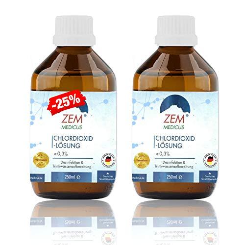 Leivys CDL/CDS Chlordioxid-Lösung Tropfen <0,3% Trinkwasser - Desinfektion Fertiglösung in lichtgeschützter Braunglasflasche 2x250ml