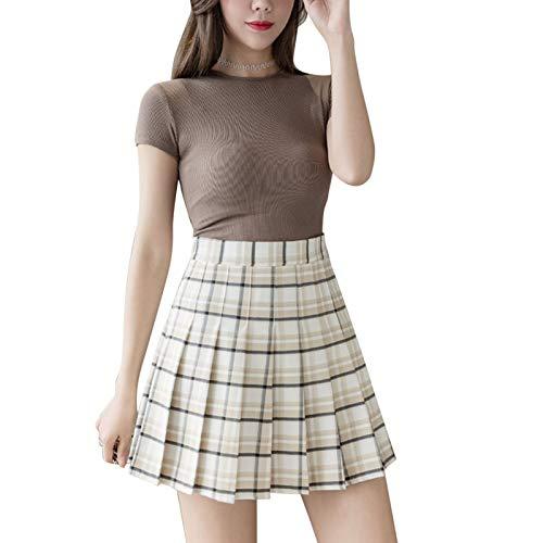 Faldas para Mujeres, niñas, Vestido Corto, Cintura Alta, Plisado, Patinadora, Falda de Tenis, Falda Escolar, Uniforme, Minifalda Acampanada