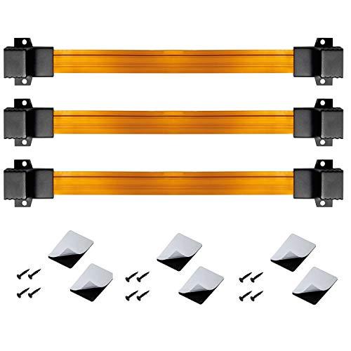 ARLI RJ45 Fensterdurchführung für 3 Flachkabel Netzwerkkabel inkl. 6 Klebepads + 12 Schrauben rj 45 Buchse Netzwerk Kabel LAN Patchkabel 3 Stück