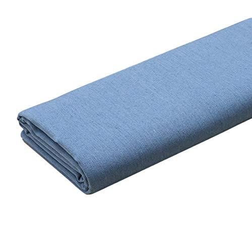Denim tissu Tissu denim Épais Faire Libération de sable Élasticité Doux Coton Veste en jean Chaussures Pantalons Vêtements pour hommes et femmes En tissu ( Color : Light blue , Size : 1.4m X 1m )