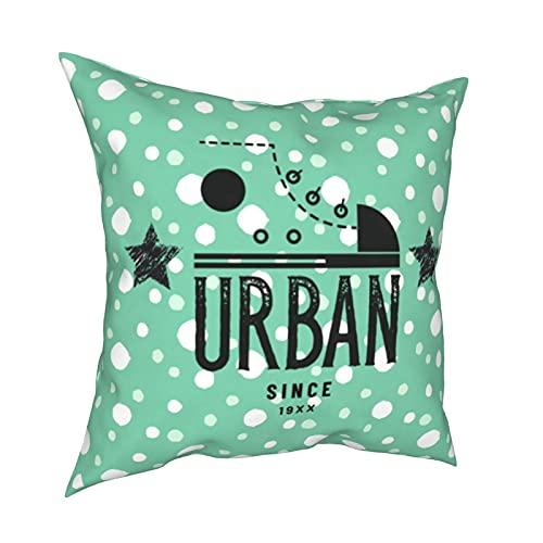 mengmeng Fundas de almohada de estilo retro urbano 19XX decorativas de 30,5 x 30,5 cm, fundas de cojín cuadradas para el hogar, sofá, dormitorio, sala de estar