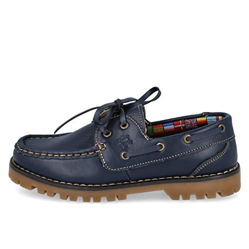BUBBLE BOBBLE A767-2 Zapatos Nauticos NIÑO - Cuero para: NIÑO Color: Azul Talla: 35