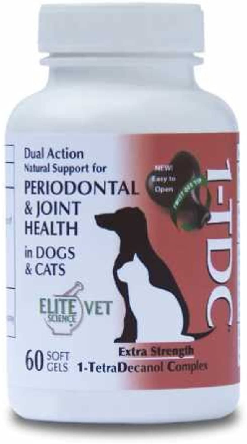 1TDC Dual Action Natural Support – 60 Twist Off Soft Gels   Delivers 4 Major Health Benefits for Dogs & Cats   Supports Oral Health, Hip & Joint Health, Muscle & Stamina Recovery, Skin & Coat Health