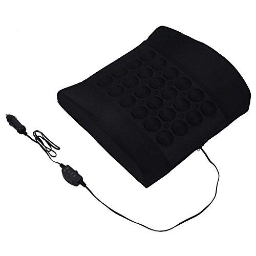 ZZY Auto Rücken Lendenwirbelstütze Elektrische Massagekissen Kissen 12 V Van Schwarz
