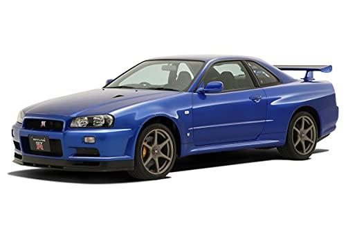 青島文化教材社 1/32 ザ・スナップキットシリーズ ニッサン R34スカイライン GT-R ベイサイドブルー 色分け...