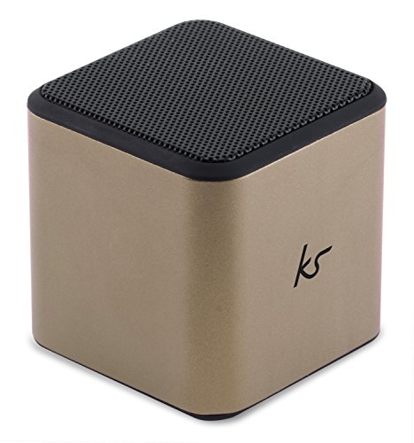KitSound Cube Universal Aufladbarer Tragbarer Lautsprecher mit 3,5mm Klinkenstecker Kompatibel mit Smartphones, Tablets und MP3 Geräten einschl. iPhone 4/4S/5/5S/5C/SE/6/6 Plus/6S/6S Plus, iPad 2/3/4/Air/Mini/Pro, iPod Nano 7, Touch 5, Samsung Galaxy S3/S4/S5/S6/S6 Edge/S6 Edge+/S7/S7 Edge, Galaxy Note 2/3, Galaxy Tab 2/3/4, Xperia Z1/Z2, HTC One/One M8 und Google Nexus 5/7/10 - Gold