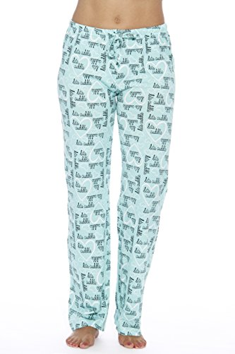6324-10053-L Just Love Women Pajama Pants / Sleepwear, Cuddle Me Mint, Large