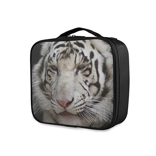 Animal Tiger Storage Portable Girls Tools Cosmetic Train Case Travel Makeup Bag Trousse de toilette