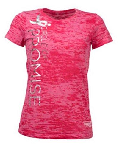 Susan G. Komen Circle of Promise Women's T-Shirt. Burn Out Fabric Pink KOMELT0077