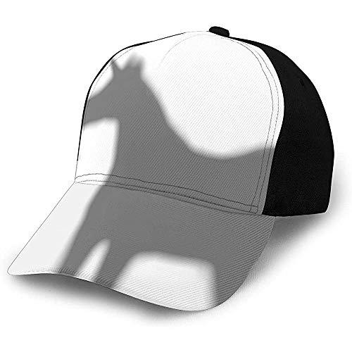 Dad Hat Unicornio Silueta Gris Blanco Pesca Trucker Sombrero...