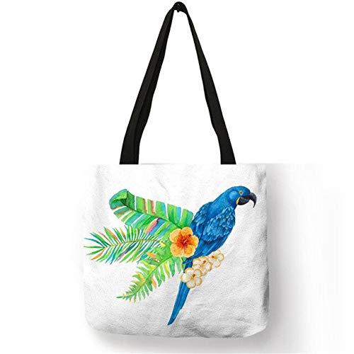 LINADEBAO modische Tragetasche, niedlich, lebensecht, Tiere, Vögel, Schwan, umweltfreundlich, wiederverwendbar, hübsche Handtasche für Mädchen und Damen, 007