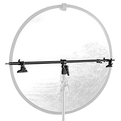 Neewer Studio Vídeo reflector Holder Brazo–39.7cm/101cm retráctil telescópica barra cruzada con 2piezas abrazaderas para soporte de luz, reflectores, producto de fondos para fotografía de retrato