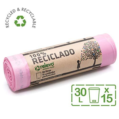 Relevo 100% Reciclado Bolsas Basura Perfumadas